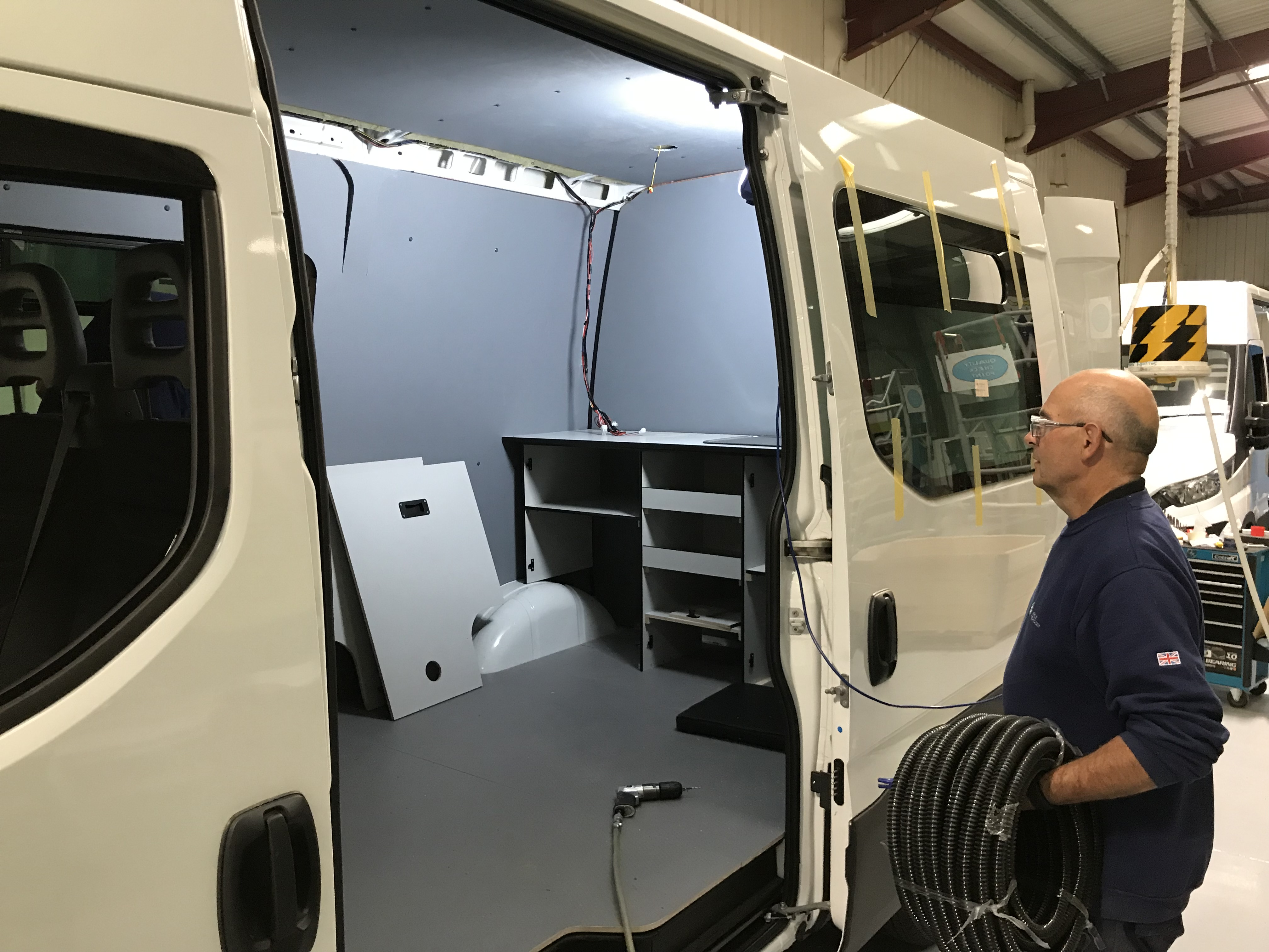 Fitting of IVECO Daily Welfare Units continuing at O&H Vehicle Technology