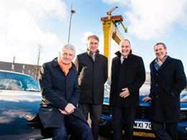 Porsche Centre Belfast building new contemporary showroom in Titanic Quarter