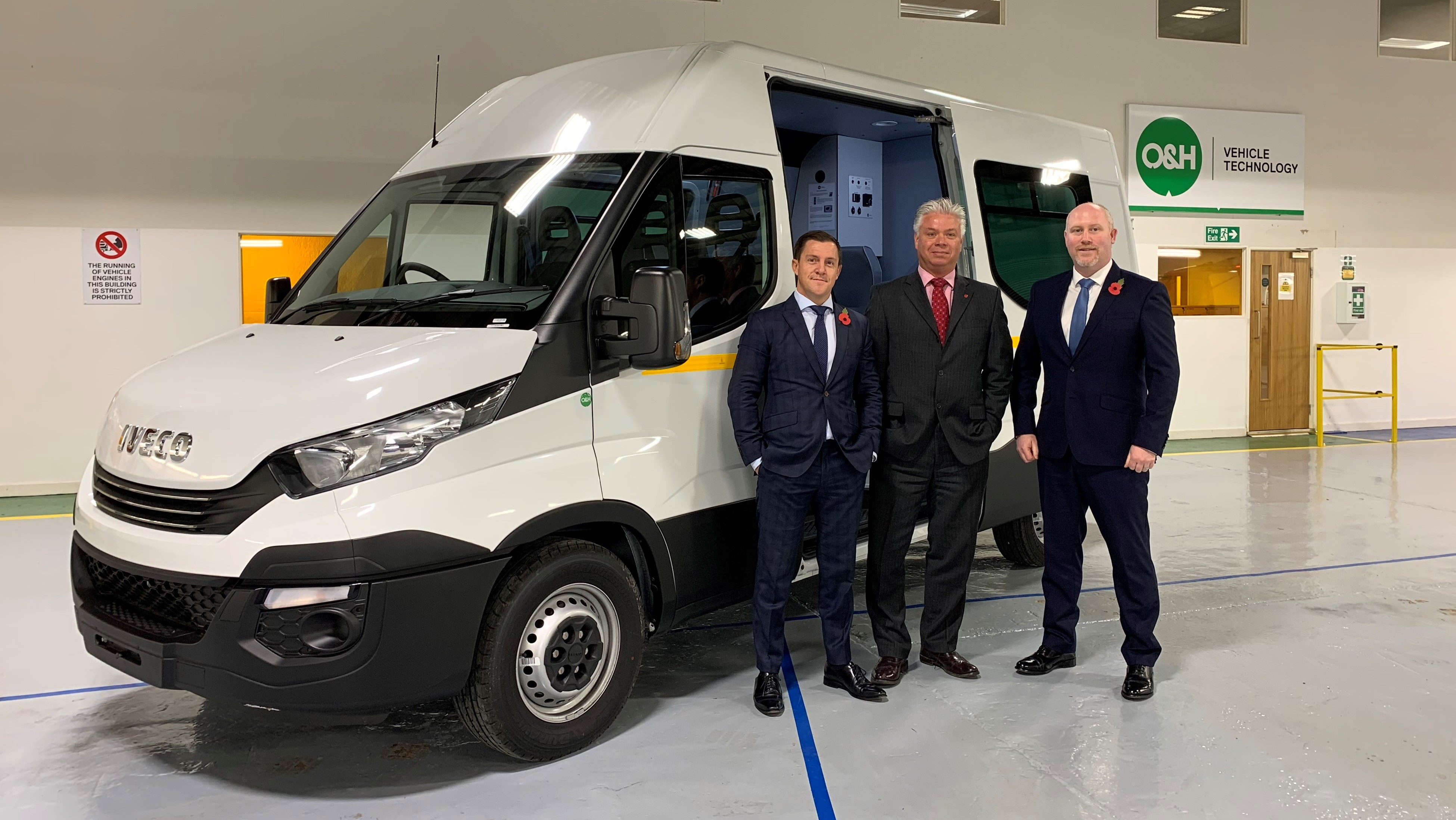 Completed IVECO Daily Welfare Units handed over to North East Truck and Van