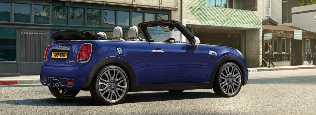 MINI Convertible with top down