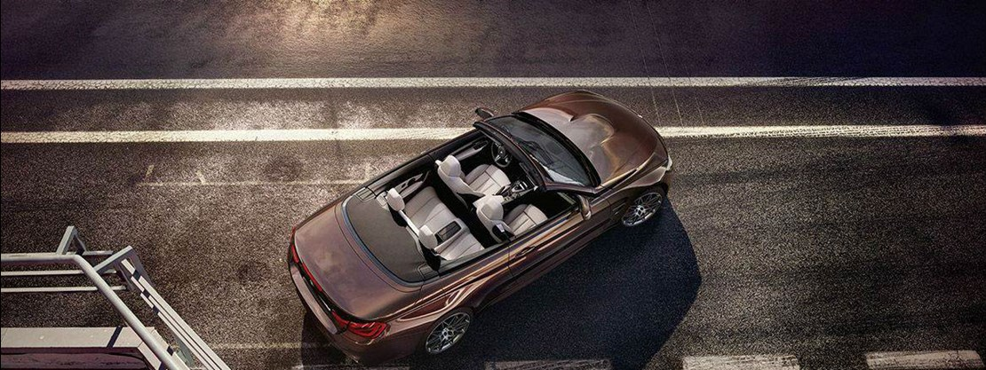 BMW M4 Competition Convertible Ariel View