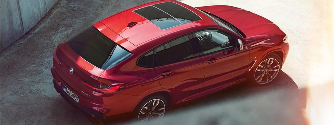 BMW X4 Aerial View