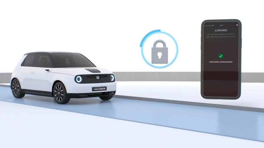 Honda e battery status through My Honda+ app
