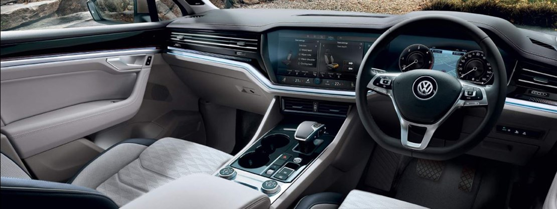 Touareg SEL Interior with ambient lighting pack