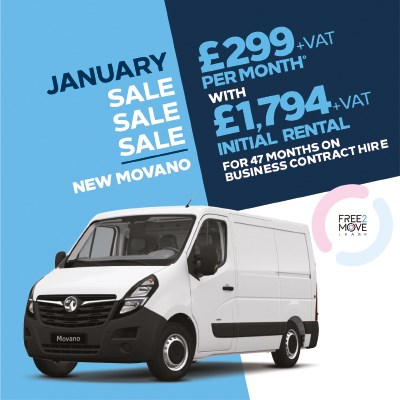 Brand New Vauxhall Van Offer - Movano