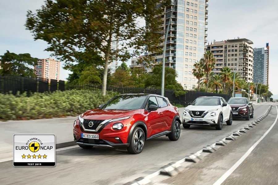 Top Euro NCAP 2019 safety rating for New Nissan JUKE