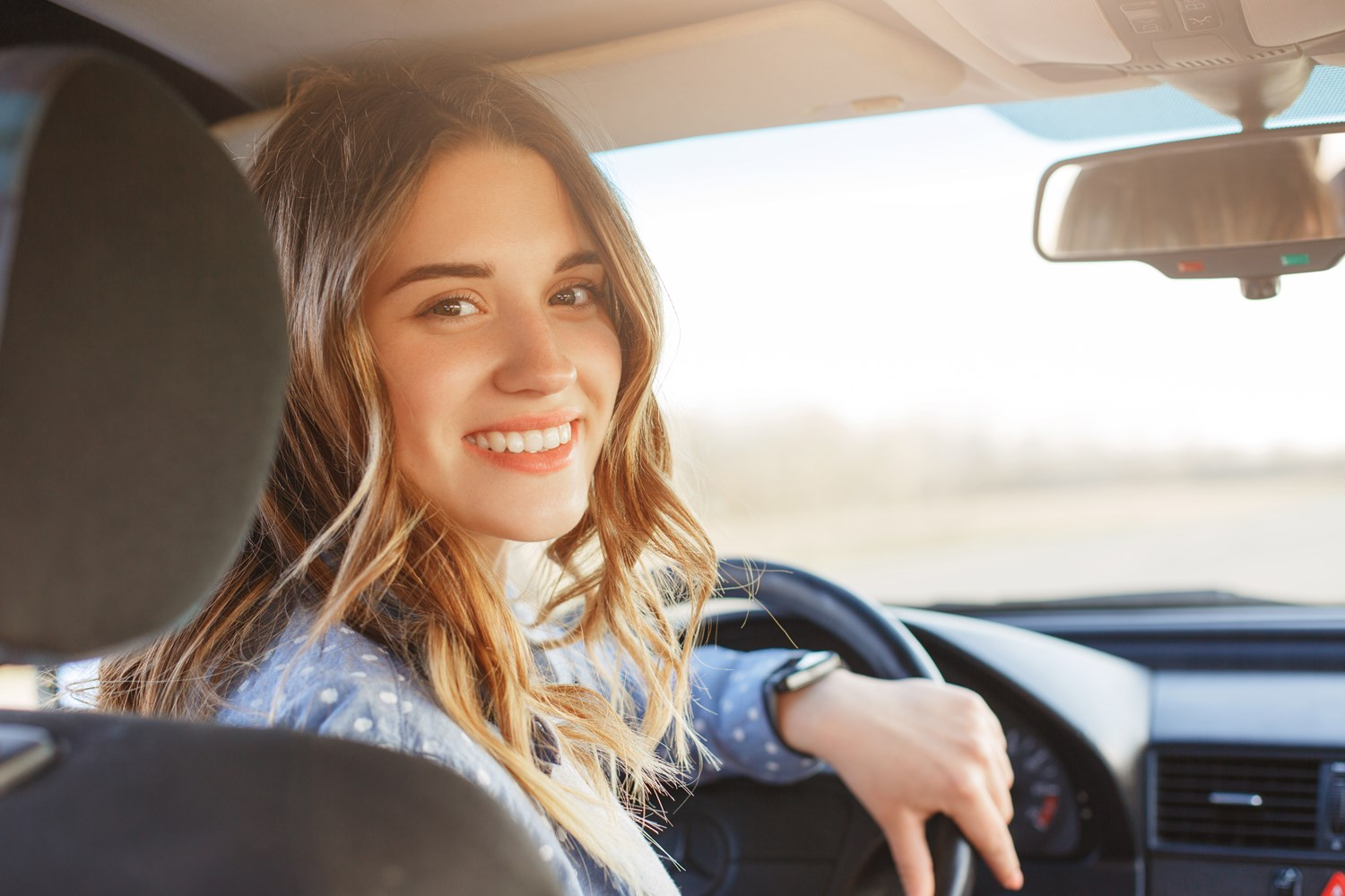 Woman in Driving Seat