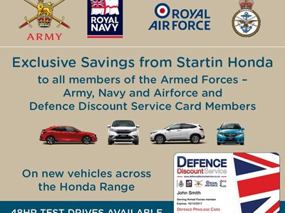 Military Discounts on New Honda Cars