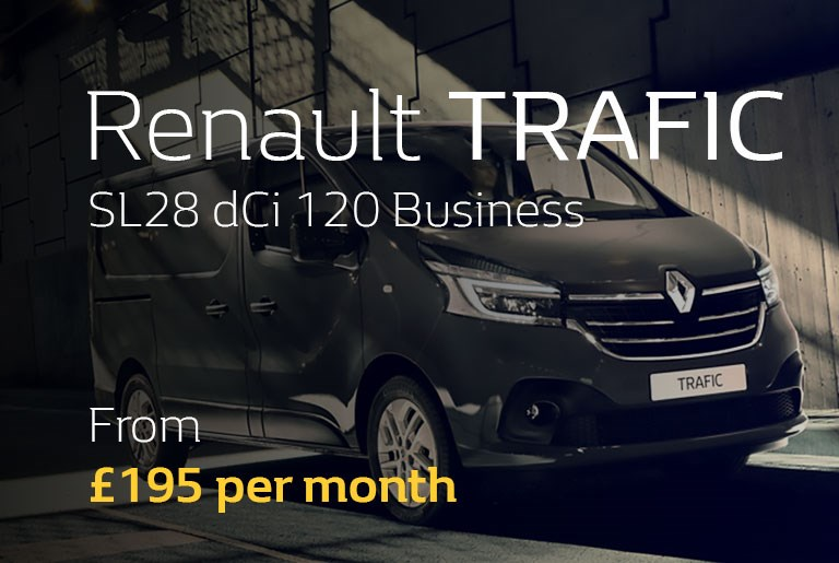 Renault Trafic From £195 per month