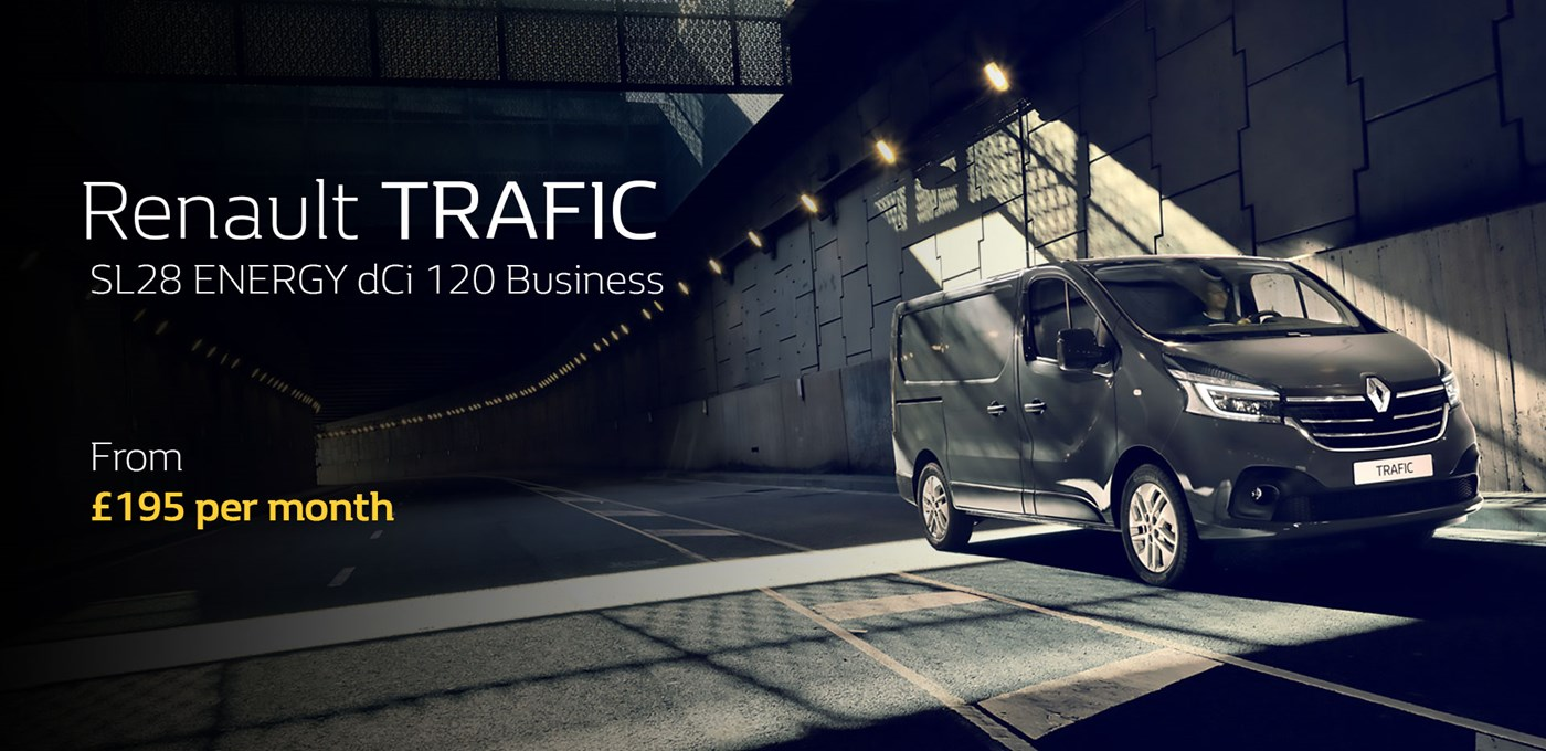 Renault TRAFIC SL28 ENERGY dCi 120 Business from £195 per month