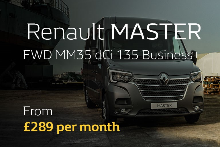 Renault MASTER From £289 per month