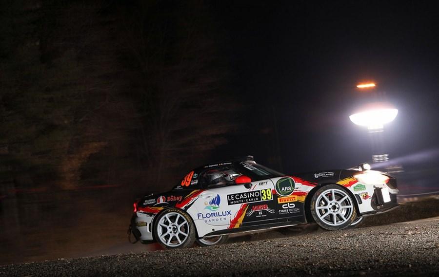 Abarth 124 rally: seasonal debut at the Montecarlo Rally