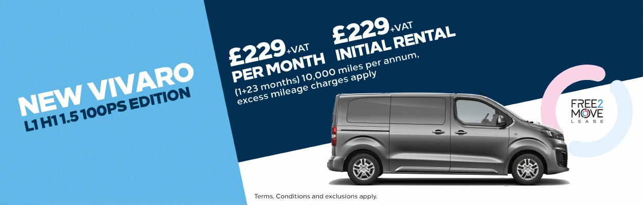 Nearly new Vauxhall Vans available for immediate delivery