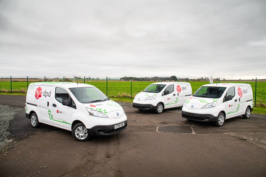 Nissan Supplies DPD With 300 Electric E-NV200 Vans