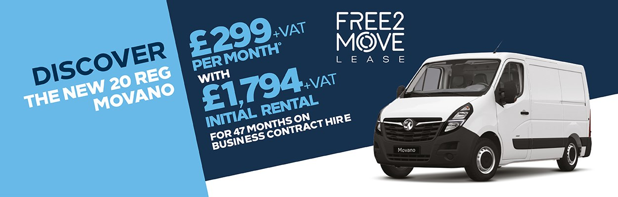 Free2Move Lease Movano £299 Per Month