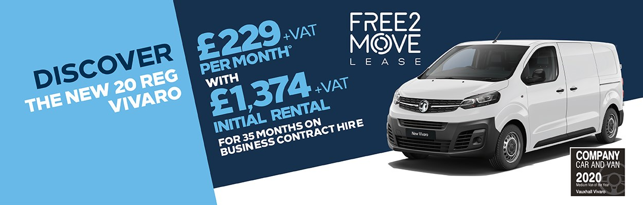 Free2Move Lease Vivaro £229 Per Month