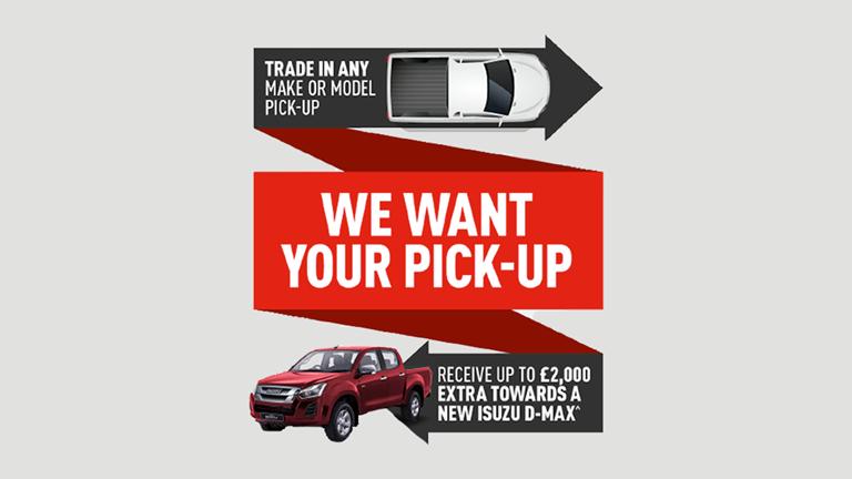 Isuzu We Want Your Pickup!