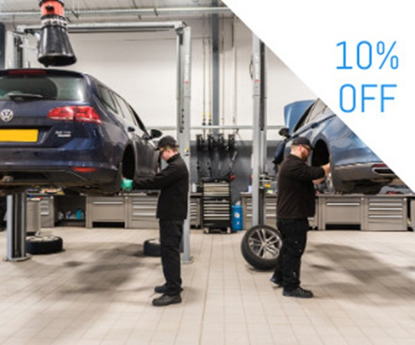 Help spread the cost of your Volkswagen's servicing
