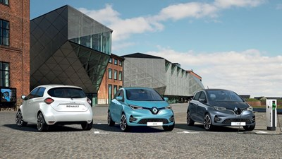 All New Renault Zoe Play from £269 per month with 0% Apr
