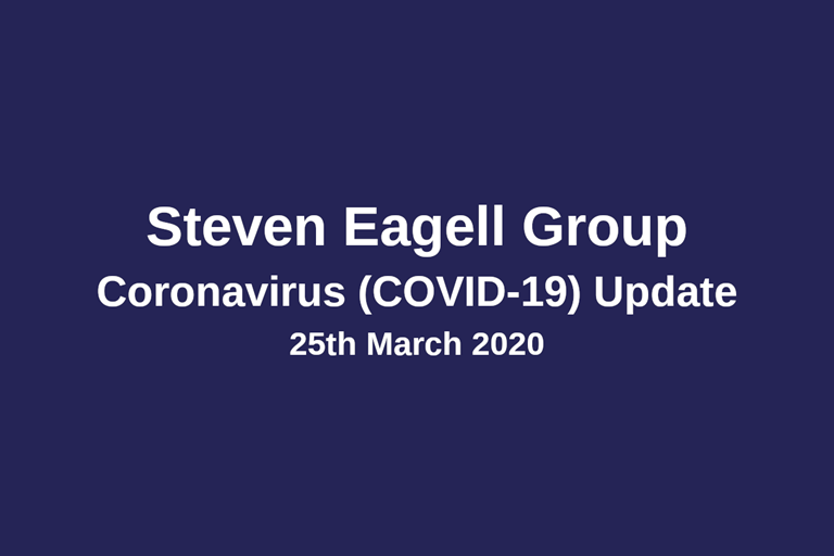 COVID-19 (Coronavirus) Update - 25th March