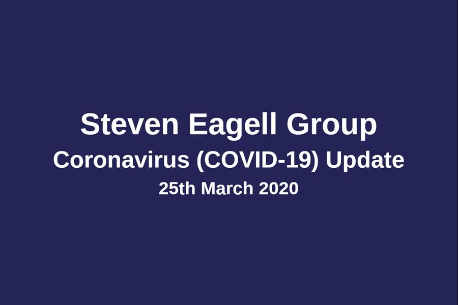 COVID-19 (Coronavirus) Update - 25th March