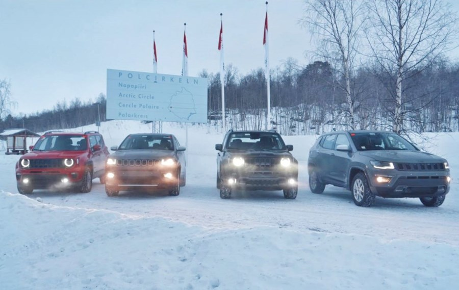 Testing Times for the New Jeep Renegade and Compass 4xe in Arjeplog