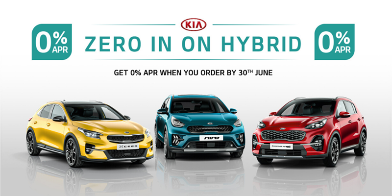 Zero in on Hybrid - 0% APR on All-New XCeed, Sportage and New Niro