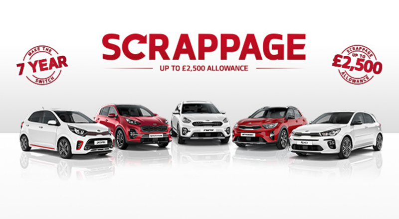 Kia Scrappage Scheme - Get up to £2,500 when you trade in your old car