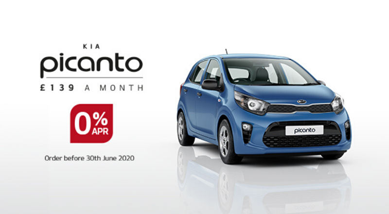 Kia Picanto with 0% APR - from £139 per month