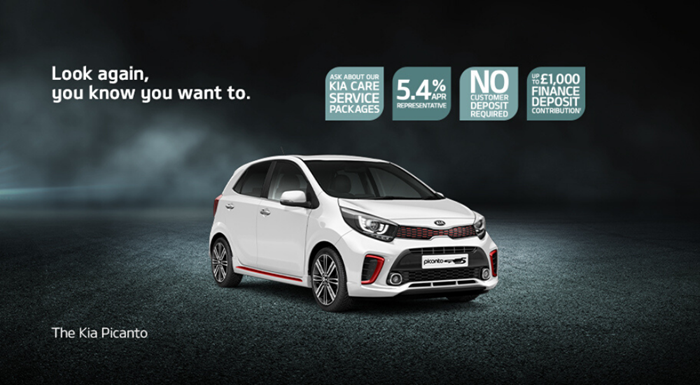 Kia Picanto with up to £1000 deposit contribution
