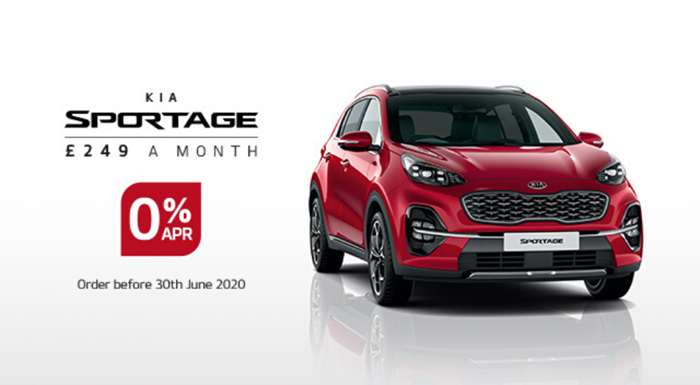 Kia Sportage with 0% APR - from £249 per month