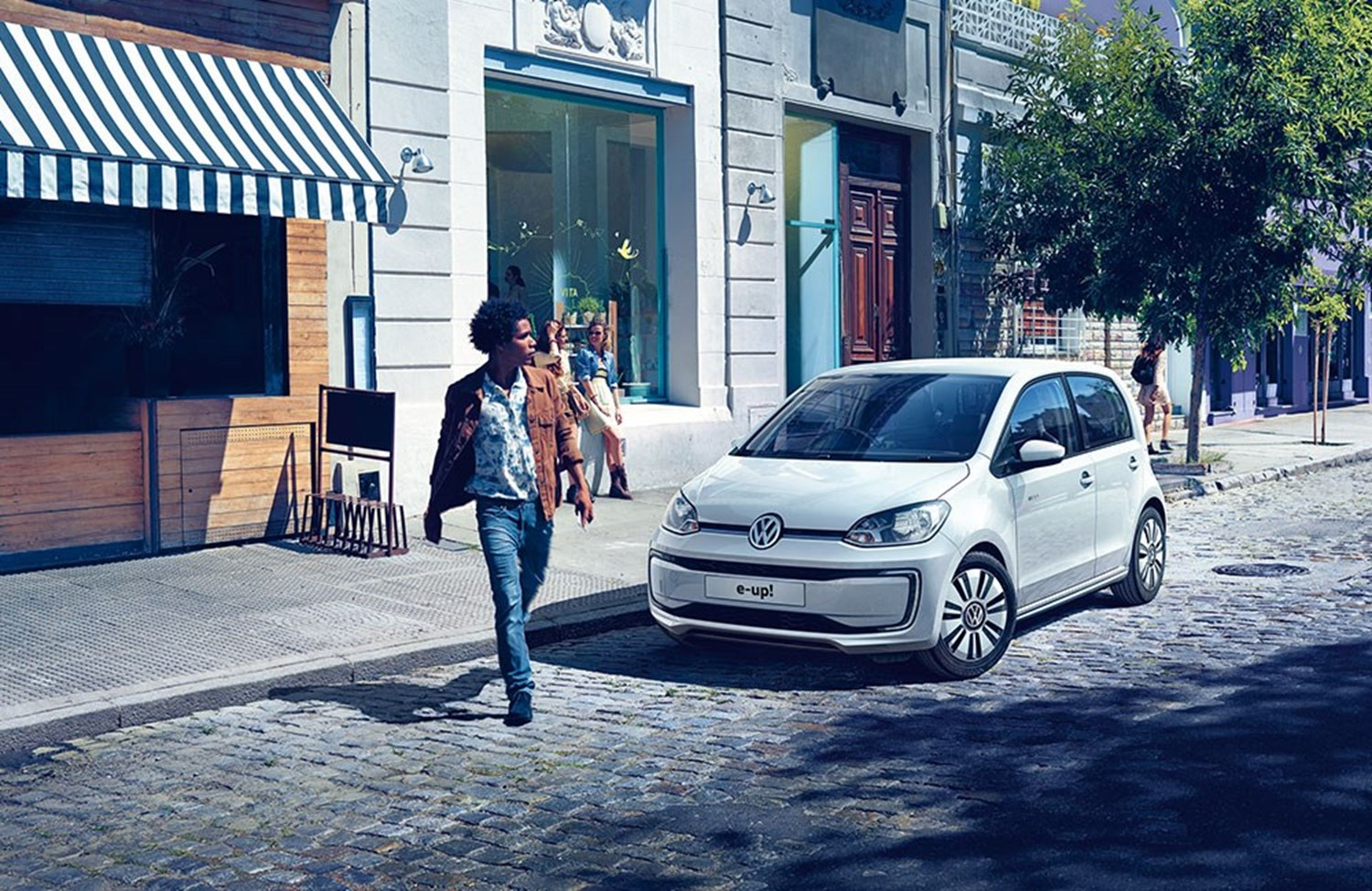 White Volkswagen e-up!