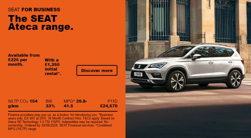 SEAT Ateca from £225 per month for Business Users