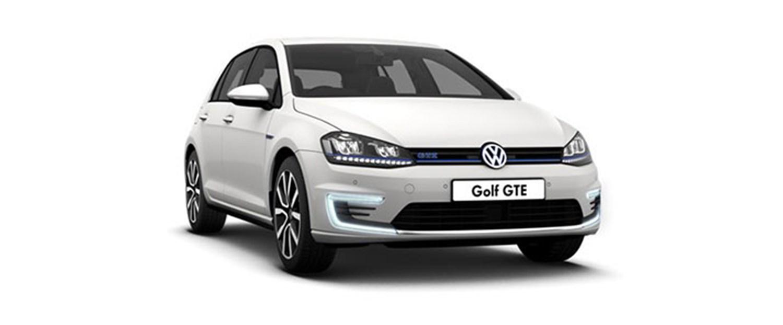 White Volkswagen Golf GTE Hybrid