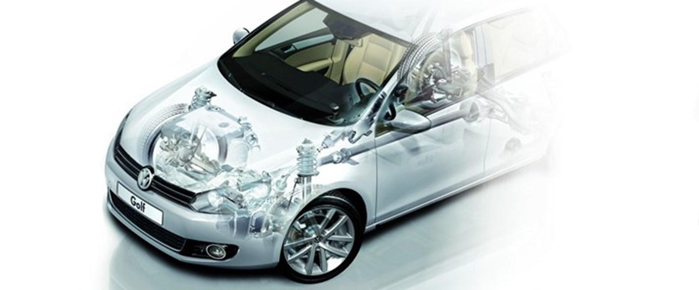 Semi-Transparent Volkswagen Golf