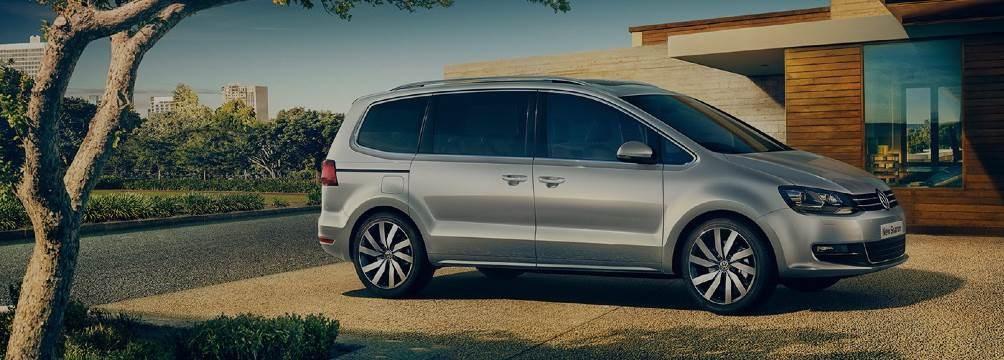 Silver Volkswagen Sharan