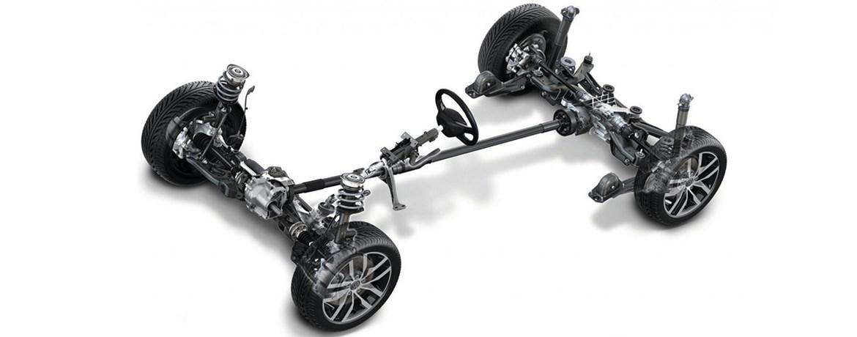 Car axles with steering wheel