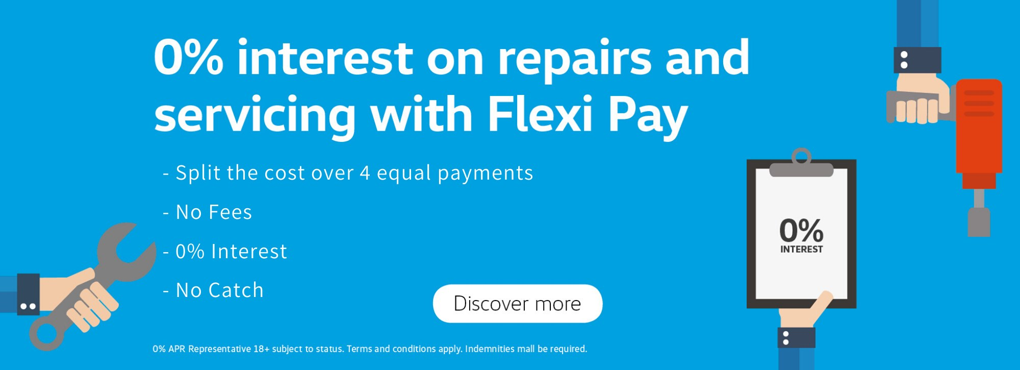 0% interest on repairs and servicing