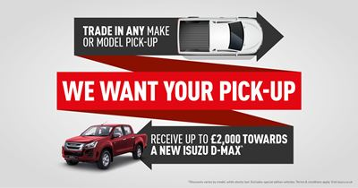 Isuzu We Want Your Pick Up