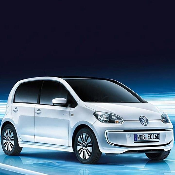 White Volkswagen e-up!
