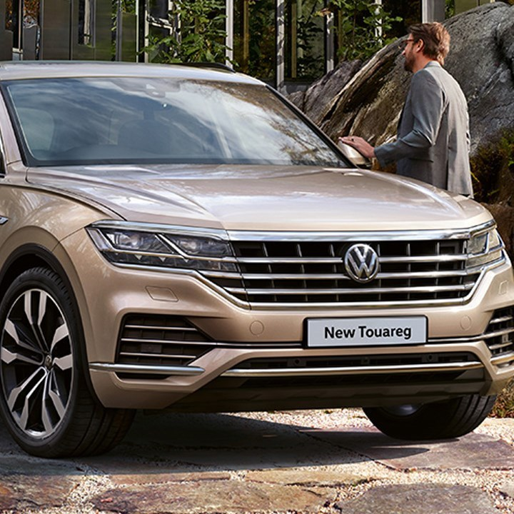 Frontal view of new Volkswagen Touareg
