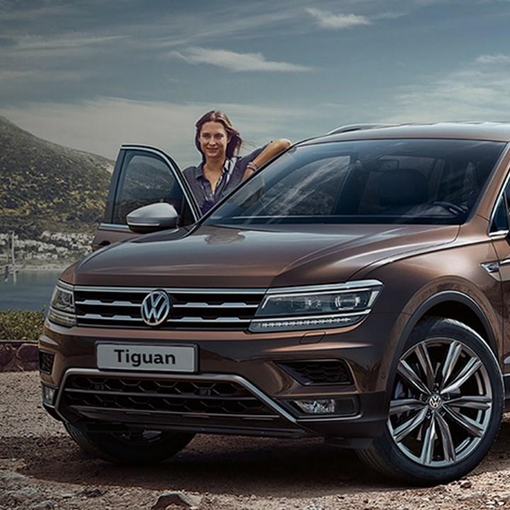 Brown Volkswagen Tiguan Allspace