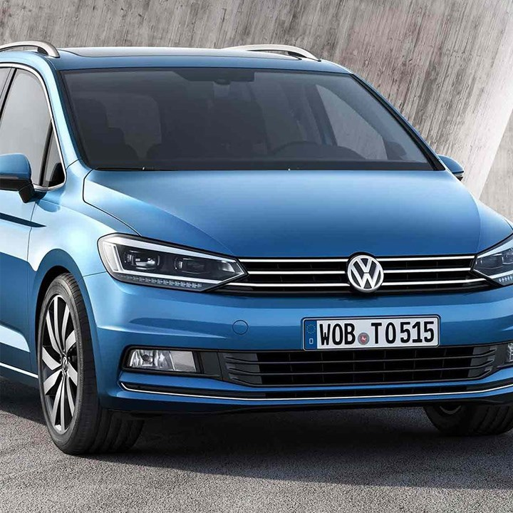Blue Volkswagen Touran