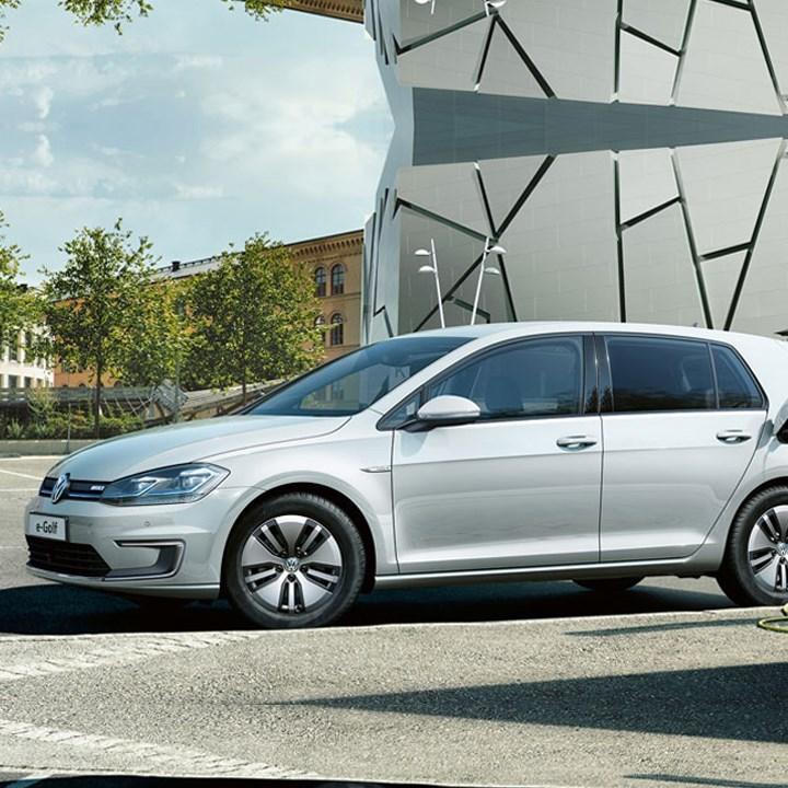 New White Volkswagen e-Golf