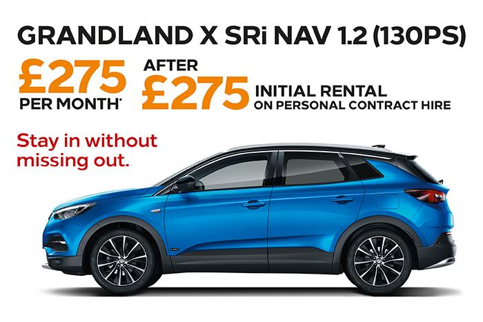 Grandland X SRi £275 deposit £275 per month