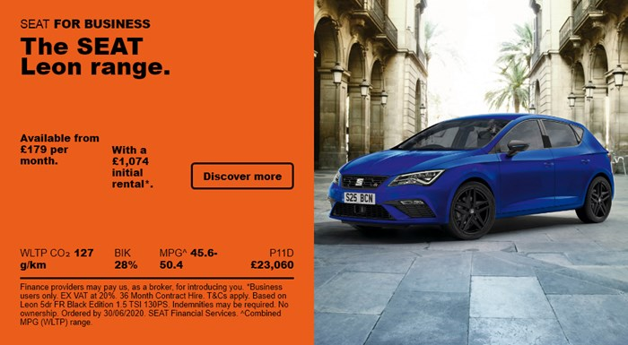 SEAT Leon from £179 per month for Business Users