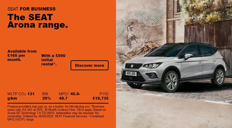 SEAT Arona from £165 per month for Business Users