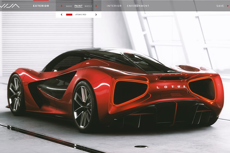 Lotus release details Evija specification process