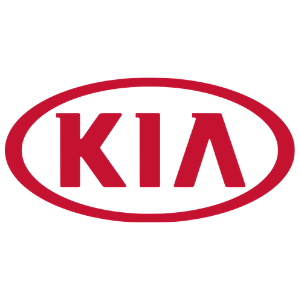 Kia logo on a white background