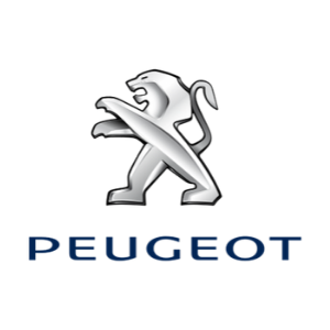 Peugeot logo on a white background